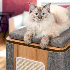 Vesper Cat Furniture V-Cubo Tower Stone | Cat Scratching Posts -  pet-max.myshopify.com