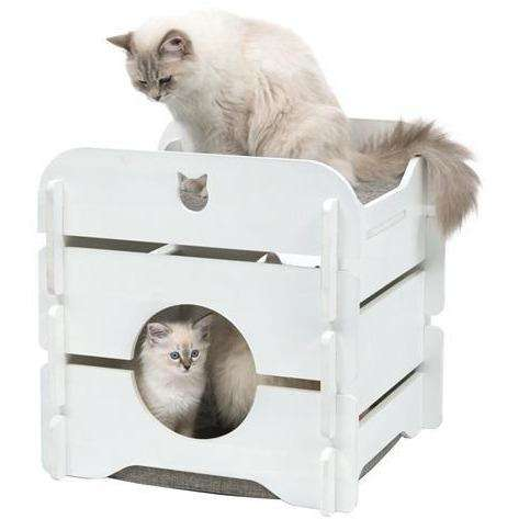 Vesper Cottage White Cat Scratching Posts [variant_title] [option1] - PetMax.ca