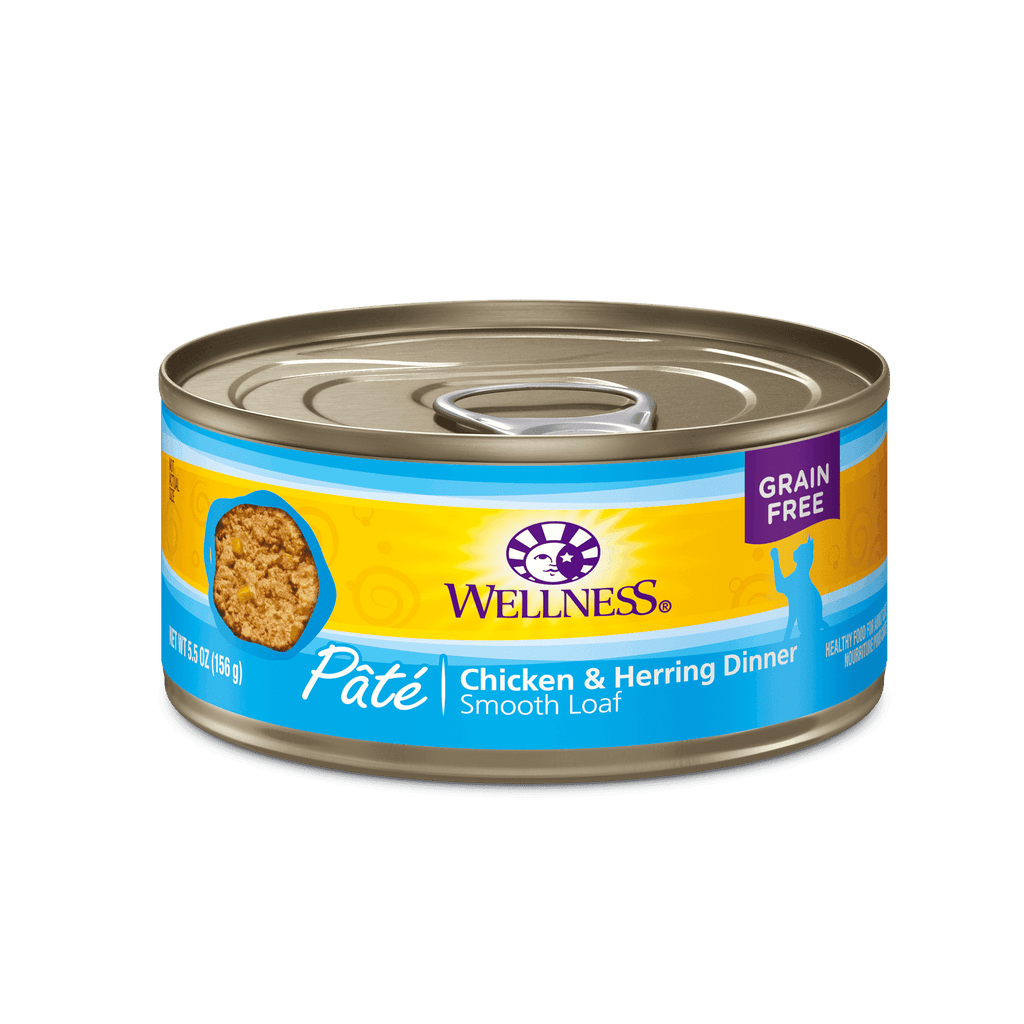 Wellness Canned Cat Food Chicken & Herring  Canned Cat Food - PetMax