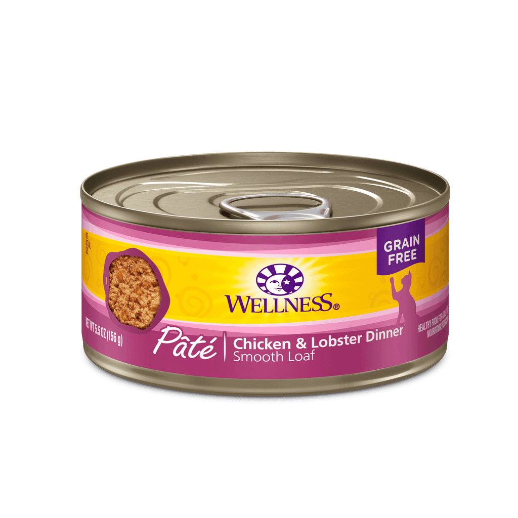Wellness Canned Cat Chicken & Lobster  Canned Cat Food - PetMax
