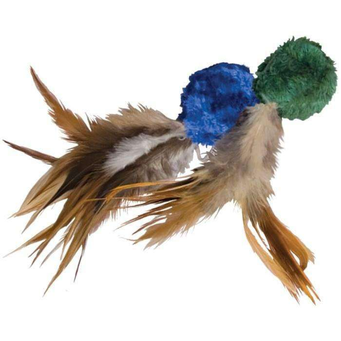 Kong Cat Naturals Crinkle Ball With Feathers  Cat Toys - PetMax