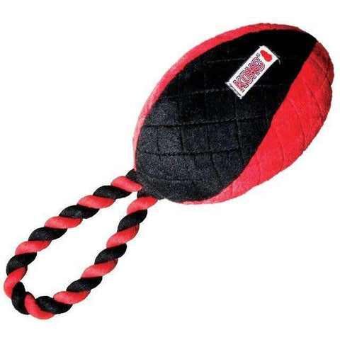 Kong Dog Crossbits Football With Rope, Dog Toys, Kong Company - PetMax Canada
