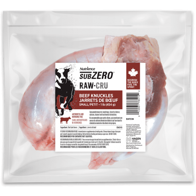 Nutrience Subzero Raw Dog Food Beef Knuckles Raw Dog Food [variant_title] [option1] - PetMax.ca