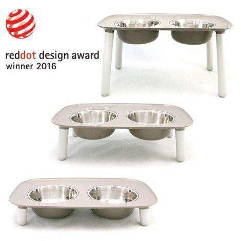 Messy Mutts Elevated Double Feeder Stainless Steel Bowls, Dog Dishes, Messy Mutt - PetMax
