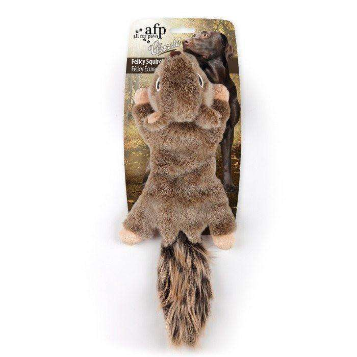 All For Paws Classic Felicy Squirrel Dog Toy  Dog Toys - PetMax