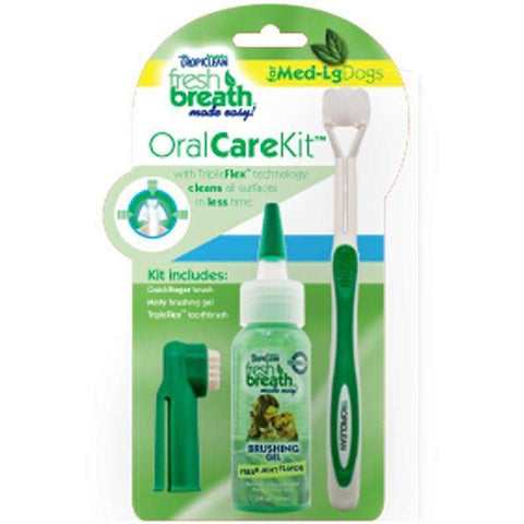 Tropiclean Fresh Breath Oral Care Kit, Health Care, TropiClean Pet Products - PetMax