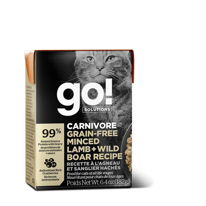 Go! Cat Food Carnivore Grain Free Tetra Pak Lamb & Boar  Canned Cat Food - PetMax