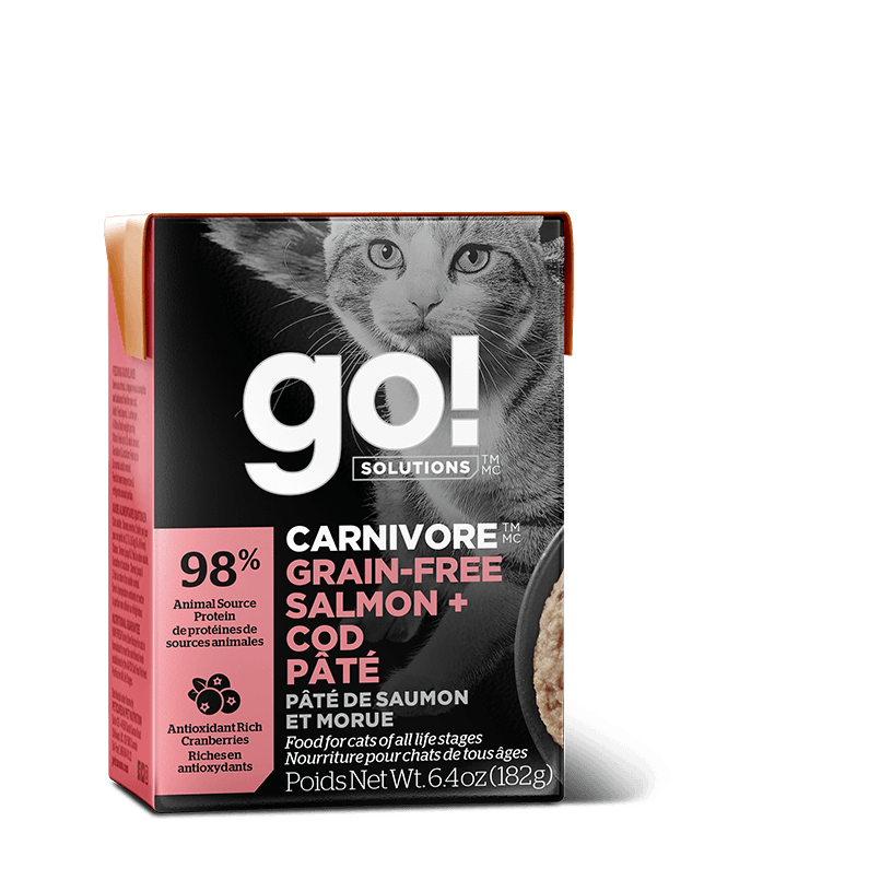 Go! Cat Food Carnivore Grain Free Tetra Pak Salmon & Cod  Canned Cat Food - PetMax