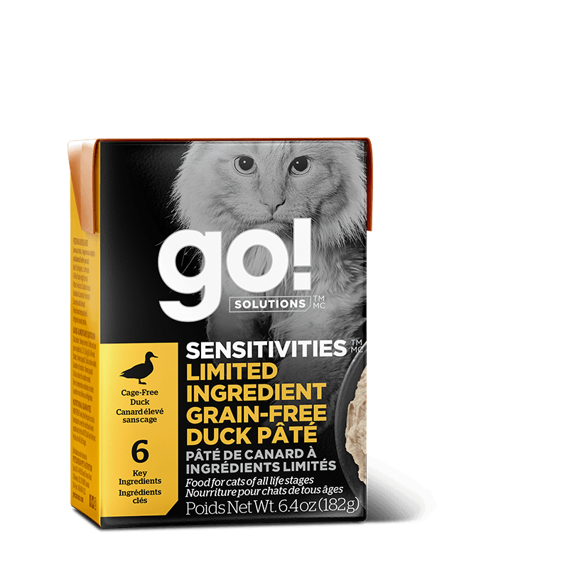 Go! Cat Food Sensitivities L.I.D. Grain Free Tetra Pak Duck  Canned Cat Food - PetMax