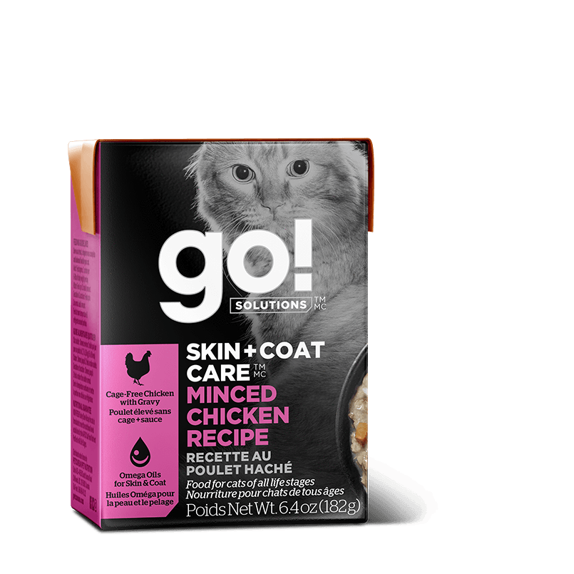 Go! Cat Food Skin & Coat Tetra Pak Chicken Minced  Canned Cat Food - PetMax