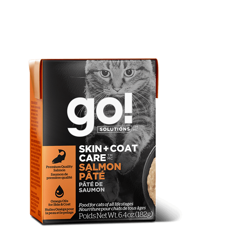 Go! Cat Food Skin & Coat Tetra Pak Salmon Pate  Canned Cat Food - PetMax