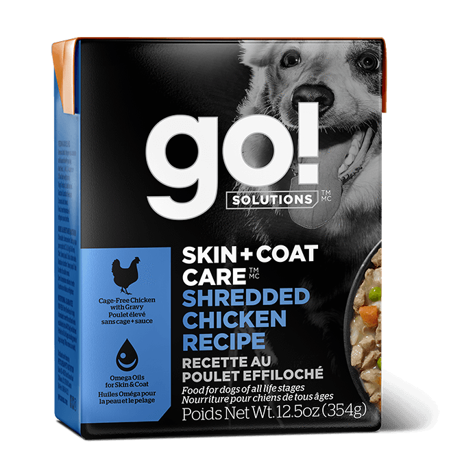 GO! SKIN + COAT CARE Shredded Chicken Recipe for dogs  Canned Dog Food - PetMax