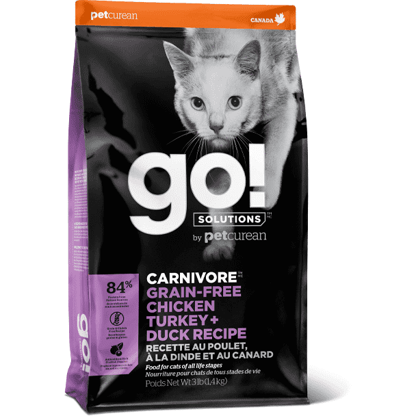 Go! Carnivore Cat Grain Free Chicken, Turkey, & Duck  Dry Cat Food - PetMax