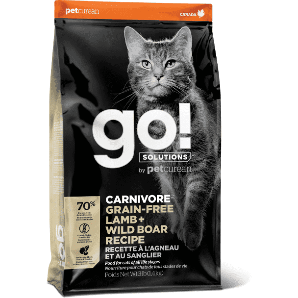 Go! Carnivore Cat Grain Free Lamb & Wild Boar | Dry Cat Food -  pet-max.myshopify.com