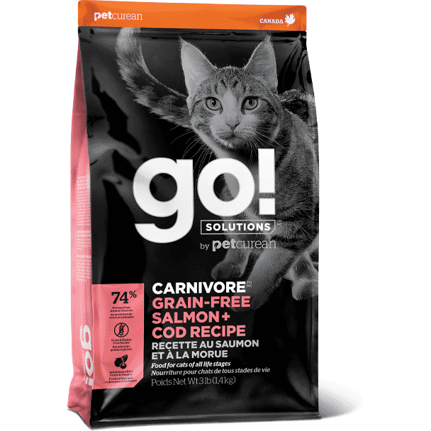 Go! Carnivore Cat Grain Free Salmon & Cod  Dry Cat Food - PetMax