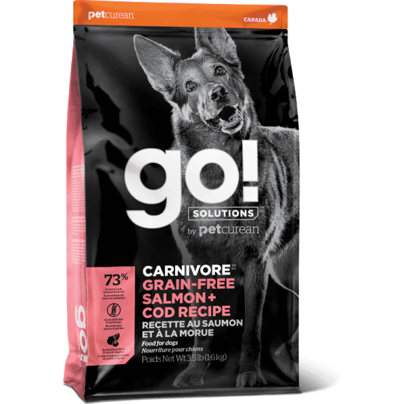 Go! Dog Food Carnivore Grain Free Adult Salmon & Cod | Dog Food -  pet-max.myshopify.com