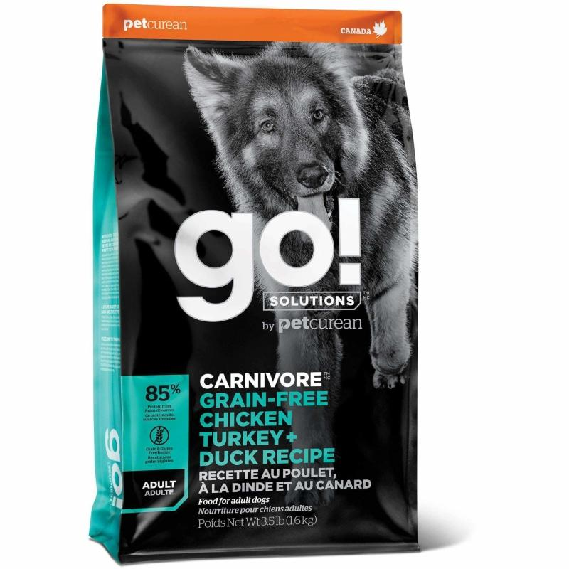 GO! CARNIVORE Grain Free Chicken, Turkey + Duck Adult Recipe for dogs  Dog Food - PetMax