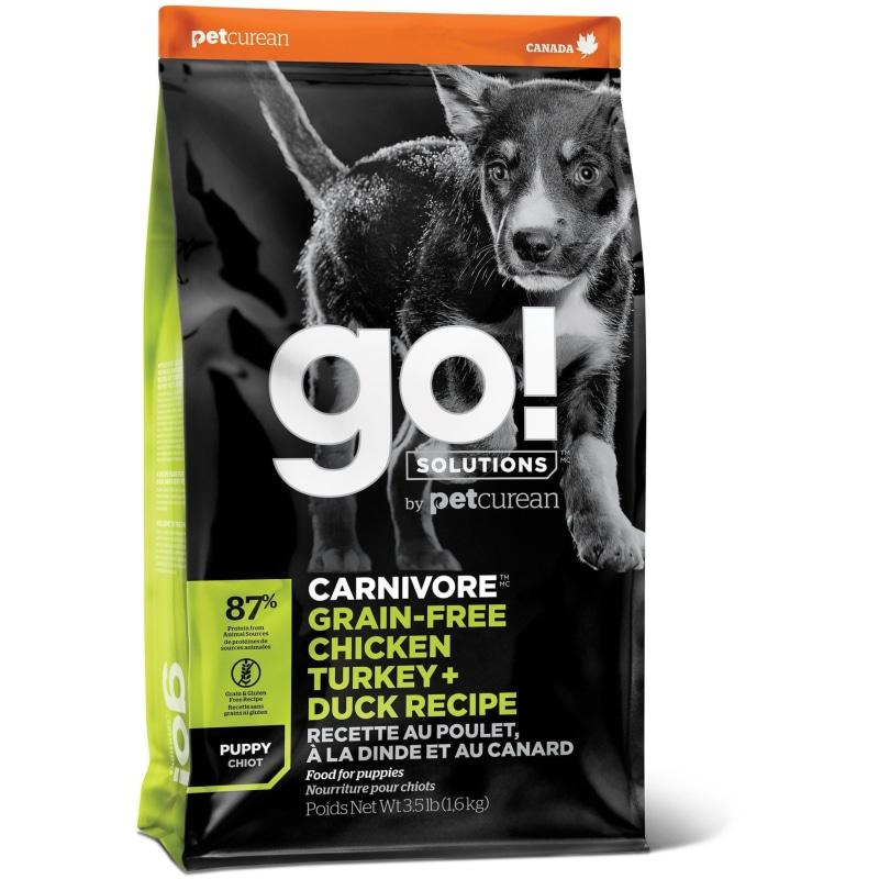 GO! CARNIVORE Grain Free Chicken, Turkey + Duck Puppy Recipe for dogs  Dog Food - PetMax