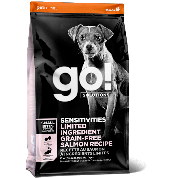 GO! SENSITIVITIES Limited Ingredient Grain Free Small Bites Salmon Recipe for dogs 1.59 Kg Dog Food - PetMax
