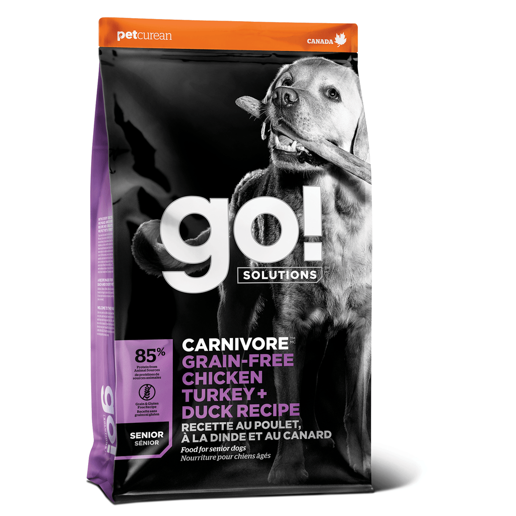 Go! Dog Food Carnivore Grain Free Senior Chicken, Turkey, Duck [variant_title] [option1] | Dog Food Petcurean -  pet-max.myshopify.com