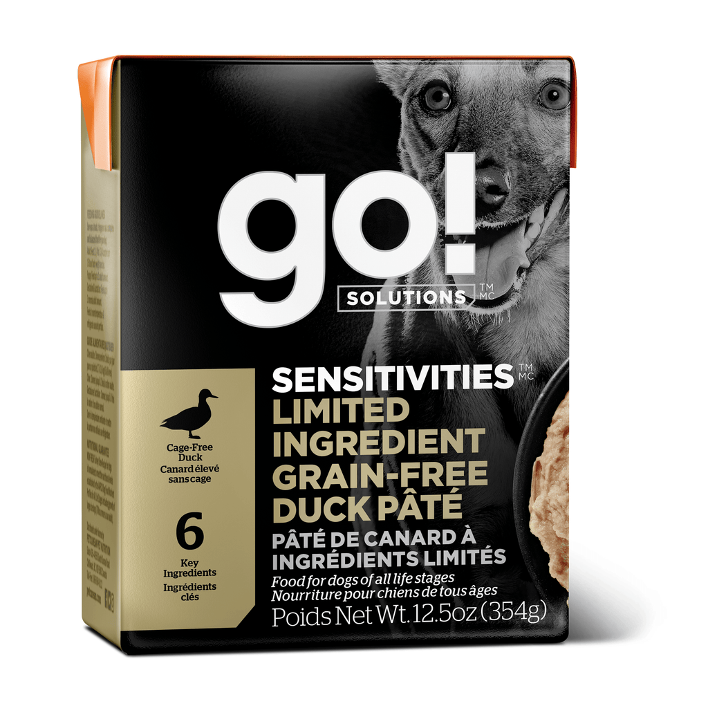 GO! SENSITIVITIES Limited Ingredient Grain Free Duck Pâté for dogs  Canned Dog Food - PetMax