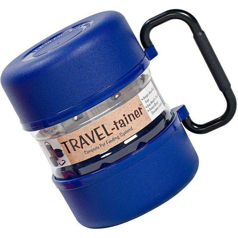 Travel-Tainer Pet Traveling Kit Blue, Dog Dishes, Travel-Tainer - PetMax