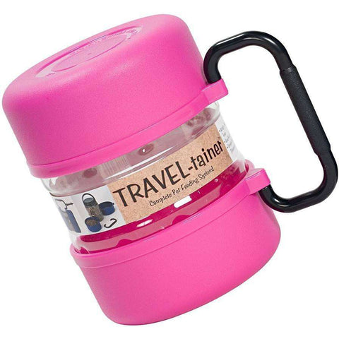 Travel-Tainer Pet Traveling Kit Pink, Dog Dishes, Travel-Tainer - PetMax