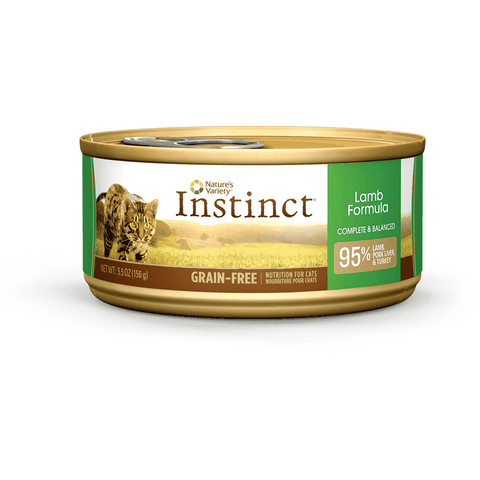 Nature's Variety Canned Cat Food Instinct Grain Free Lamb