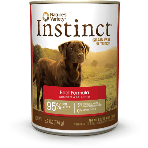 Nature's Variety Canned Dog Food Instinct Grain Free Beef, Canned Dog Food, Natures Variety - PetMax Canada