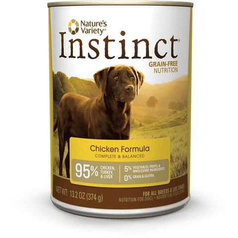 Natures Variety Canned Dog Food Instinct Grain Free Chicken, Canned Dog Food, Natures Variety - PetMax Canada