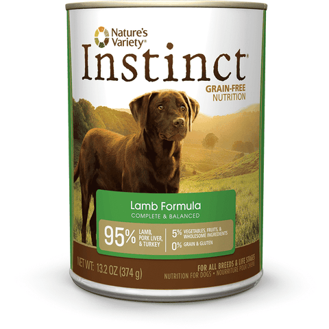 Natures Variety Canned Dog Food Instinct Grain Free Lamb, Canned Dog Food, Natures Variety - PetMax Canada