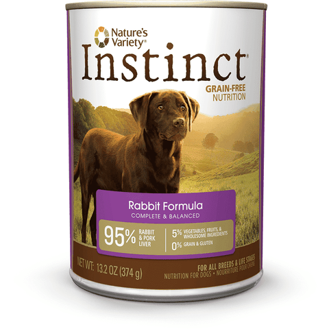 Natures Variety Canned Dog Food Instinct Grain Free Rabbit