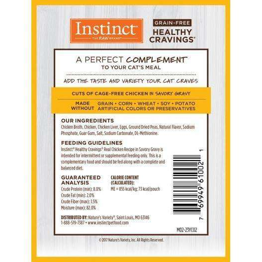 Instinct Wet Cat Food Healthy Cravings Pouches Tender Chicken  Canned Cat Food - PetMax