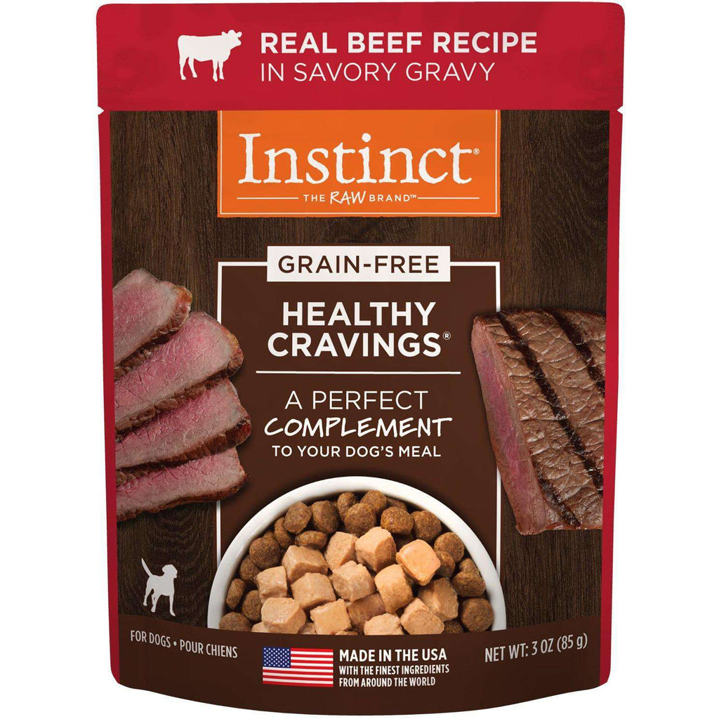 Nature's Variety Instinct Healthy Cravings Pouches Tender Beef | Canned Dog Food -  pet-max.myshopify.com