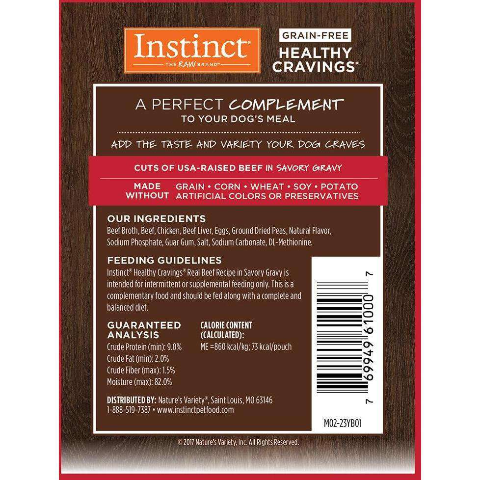 Instinct Wet Dog Food Healthy Cravings Pouches Tender Beef  Canned Dog Food - PetMax