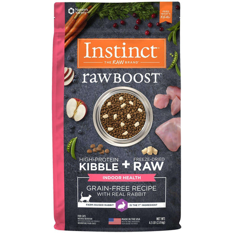 Nature's Variety Cat Instinct Raw Boost Indoor Rabbit, Dry Cat Food, Nature's Variety - PetMax Canada
