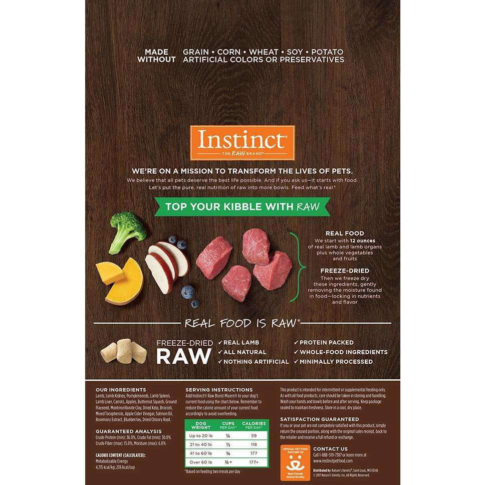 Nature's Variety Instinct Raw Boost Mixers Lamb | Dog Food -  pet-max.myshopify.com