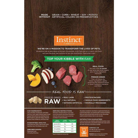 Nature's Variety Instinct Raw Boost Mixers Lamb, Dog Food, Natures Variety - PetMax Canada