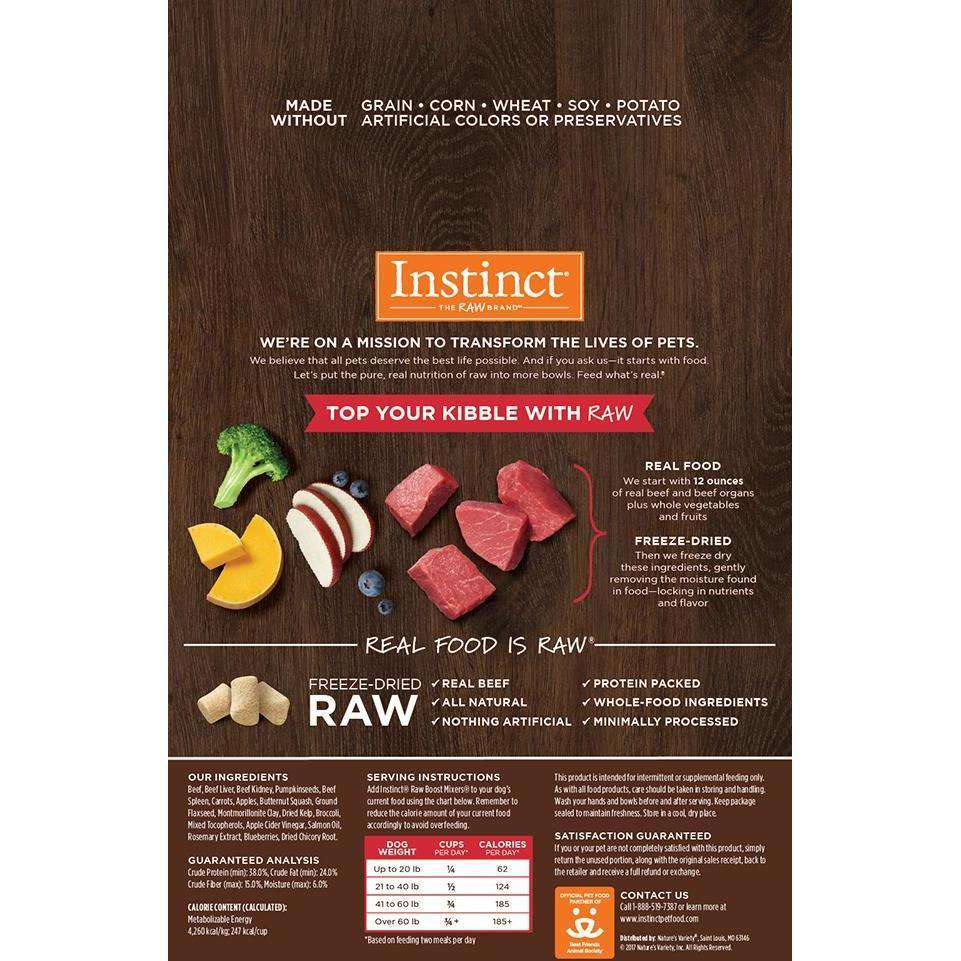 Nature's Variety Instinct Raw Boost Mixers Beef | Dog Food -  pet-max.myshopify.com