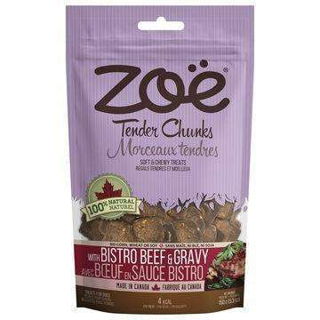 Zoe Dog Tender Chunks Beef & Gravy, Dog Treats, Rolf C Hagen Inc. - PetMax Canada