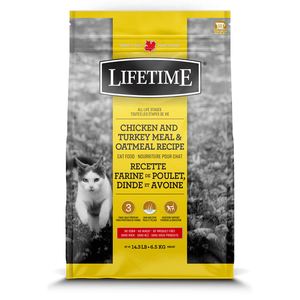 Lifetime Cat Food Chicken, Turkey & Oatmeal  Dry Cat Food - PetMax
