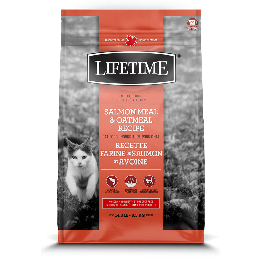 Lifetime Cat Food Salmon Meal & Oatmeal  Dry Cat Food - PetMax