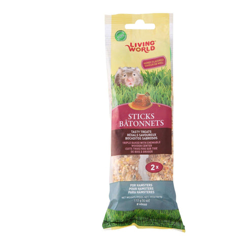 Living World Hamster Stick Honey Flavour, Small Animal Food Treats, Rolf C Hagen Inc. - PetMax