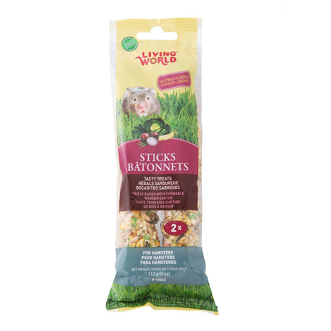 Living World Hamster Stick Vegetable Flavour, Small Animal Food Treats, Rolf C Hagen Inc. - PetMax