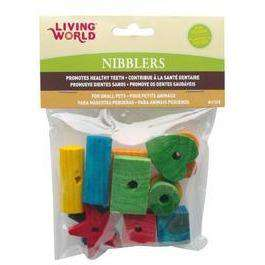 Living World Nibblers Wood Chews Mixed Shapes, Small Animal Chew Products, Rolf C. Hagen Inc. - PetMax Canada
