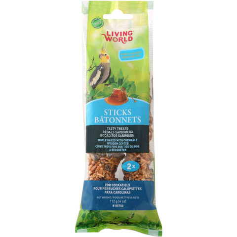 Living World Cockatiel Honey Stick, Bird Treats, Rolf C Hagen Inc. - PetMax