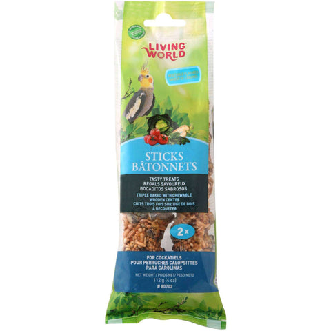 Living World Cockatiel Vegetable Stick, Bird Treats, Rolf C Hagen Inc. - PetMax