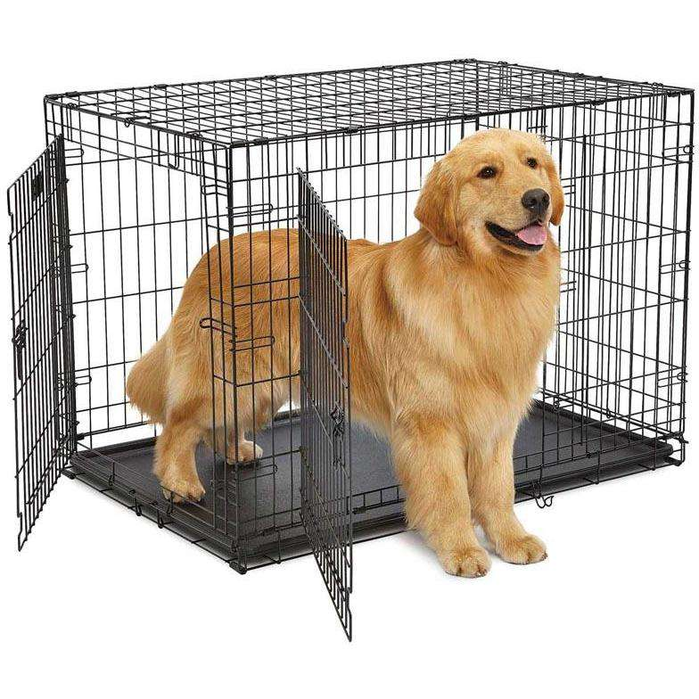 Midwest Contour Double Door Crate  Cages and Kennels - PetMax
