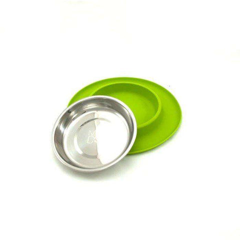 Messy Mutts Silicone Feeder With Stainless Steel Bowl, Dog Dishes, Messy Mutt - PetMax