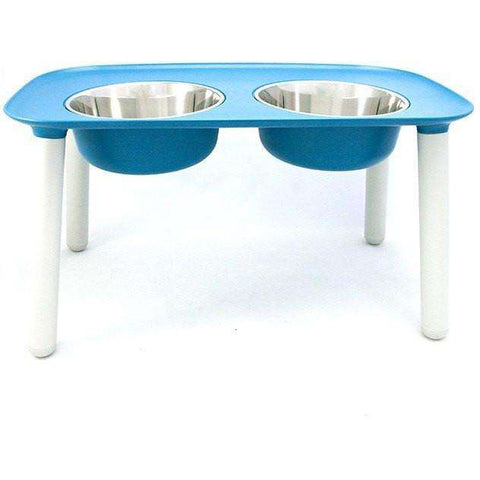 Messy Mutts Elevated Double Feeder Stainless Steel Bowls
